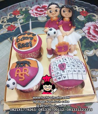 Cupcake Ulang Tahun AS Roma