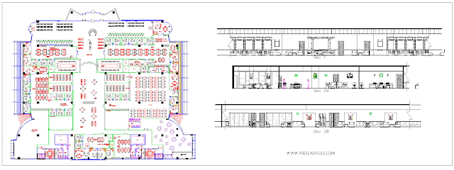 Post office building DWG