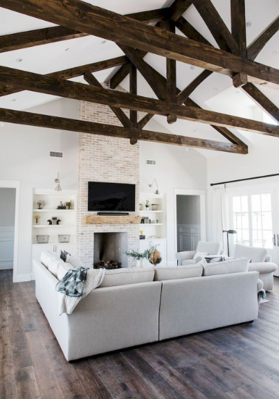 COOL FARMHOUSE LIVING ROOM DECORATION IDEAS