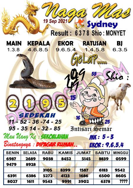 Syair Nagamas Sdy Minggu 19 September 2021