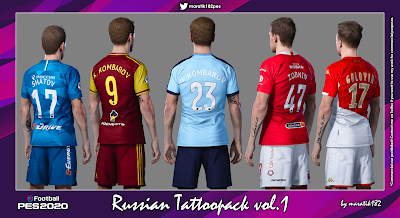 PES 2020 Russian Tattoopack vol.1 by Maratik182