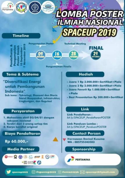 Lomba Desain Poster Ilmiah Nasional 2019 di Universitas Pertamina