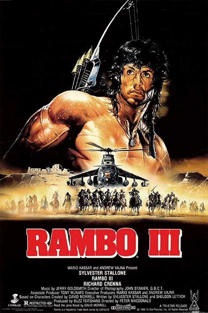 Capa Rambo III – 3 – 1988 Dublado