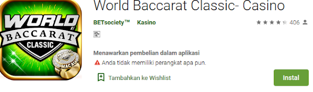 World Baccarat Classic Game Mobile Nomor 1 Asia