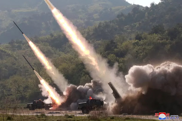 (3) Kim Jong Un at strike drill of defence units in forefront area and on western front, May 9, 2019