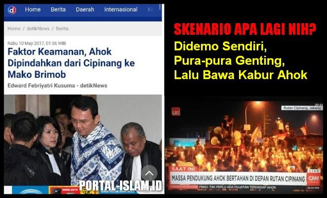 Faktor Keamanan, Ahok Dipindahkan dari Cipinang ke Mako Brimob
