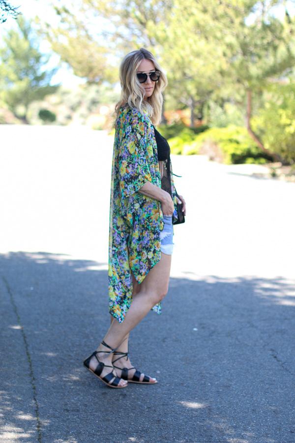 high low kimono style