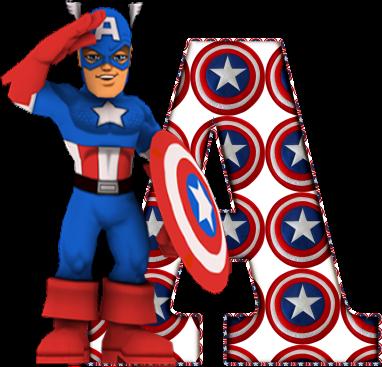 Alfabeto Del Capitan America Oh My Alfabetos
