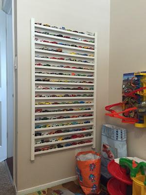 coleção de carrinhos organizar