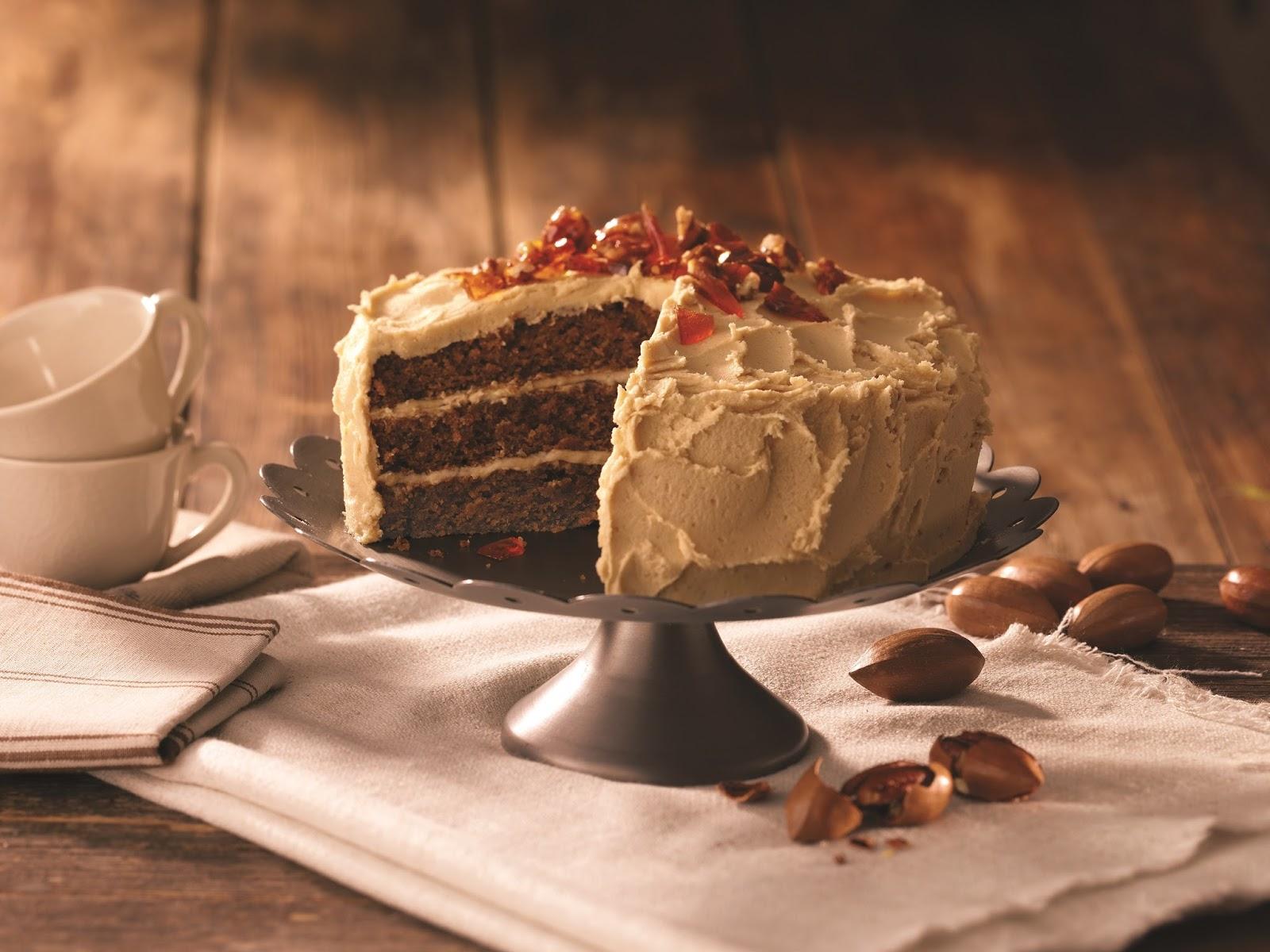 Pecan And Caramel Cake