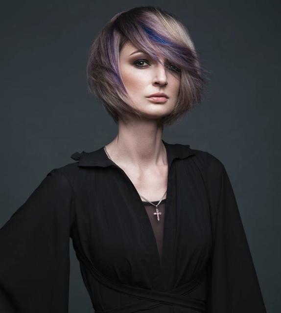 purple hair highlights 2020