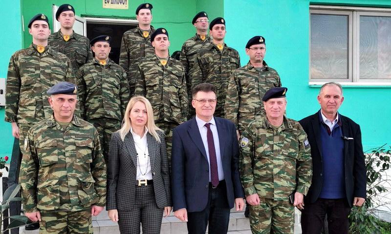Επισκέψεις Πέτροβιτς σε στρατιωτικά φυλάκια και σημεία ελέγχου της ΕΛ.ΑΣ.
