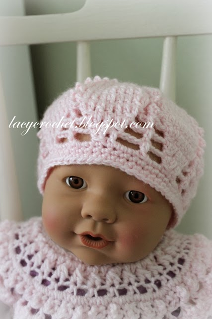 Free Crochet Baby Lacy Hat Pattern : Lacy Crochet: Baby/Toddler Berets, Free Crochet Pattern