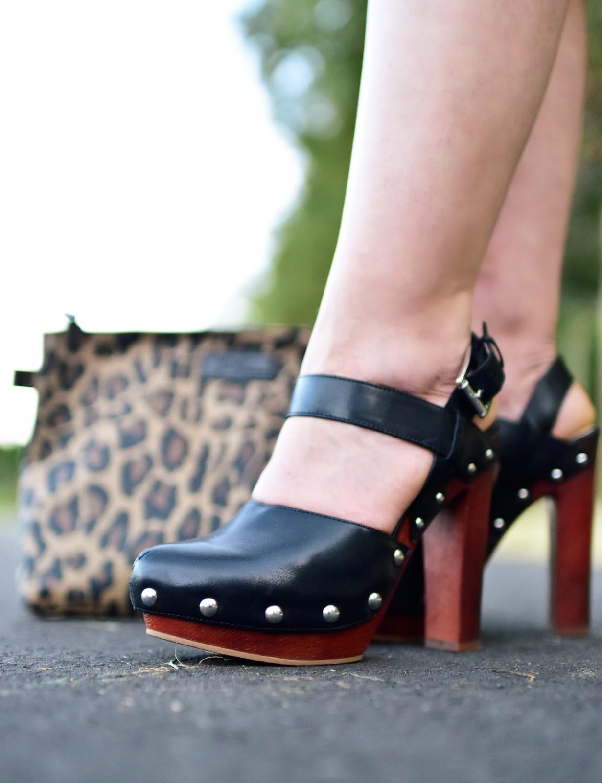 Vince Camuto stud-embellished platform shoes