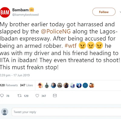 """This Must Stop"" BBNaija's Bam Bam Accuses Nigerian Police Of Harrassing Her Brother After Accusing Him Of Being An Armed Robber"