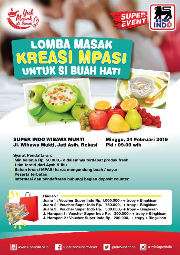 #Superindo - #Promo Lomba Masak Kreasi Mpasi di Superindo Wibawa Mukti Bekasi (24 Feb 2019)