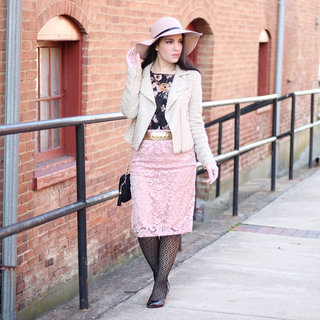 Blush Floppy Hat