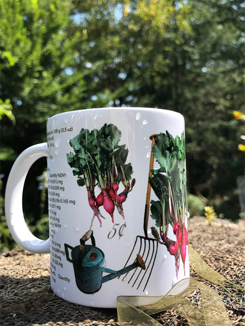 Radish mug perfect for the sowing