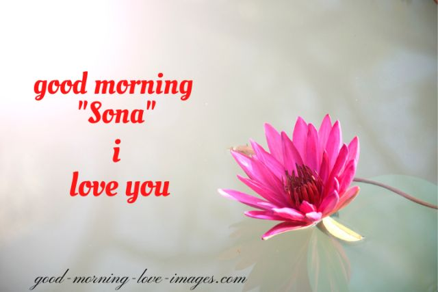good morning sona I love you pictures