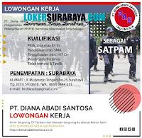 Karir Surabaya di PT. Diana Abadi Santosa Juni 2020