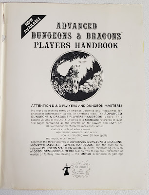Ad for the Player's Handbook