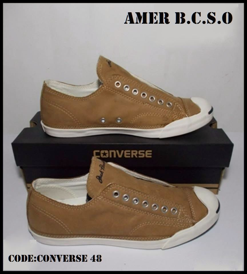 SEPATU ORIGINAL JOGJA  CONVERSE JACK PURCELL LEATHER OX BEIGE e6e0115221