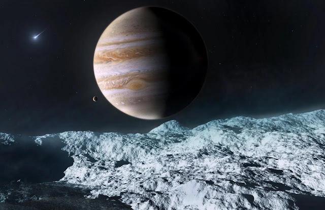 Europa lua de Júpiter - ilustração