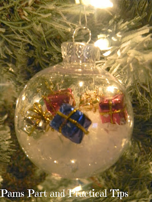 A snow themed ornaments with presents