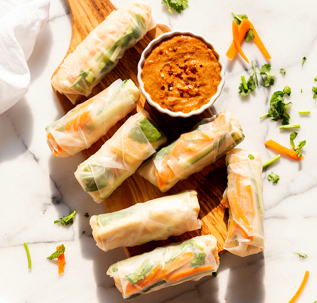 Rice Paper Rolls With Mango And Mint Recipe