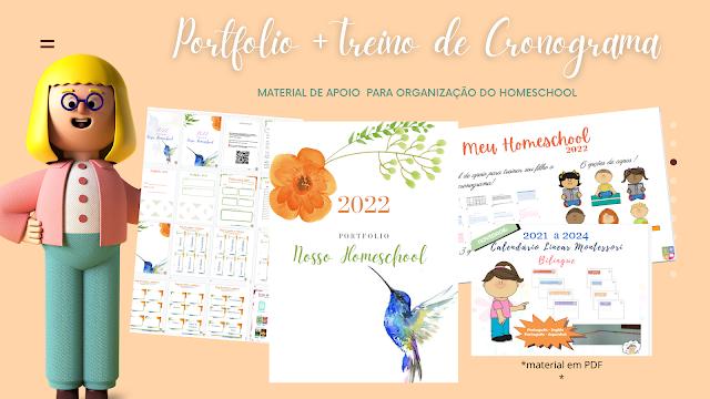 portfolio homeschool planner planejamento