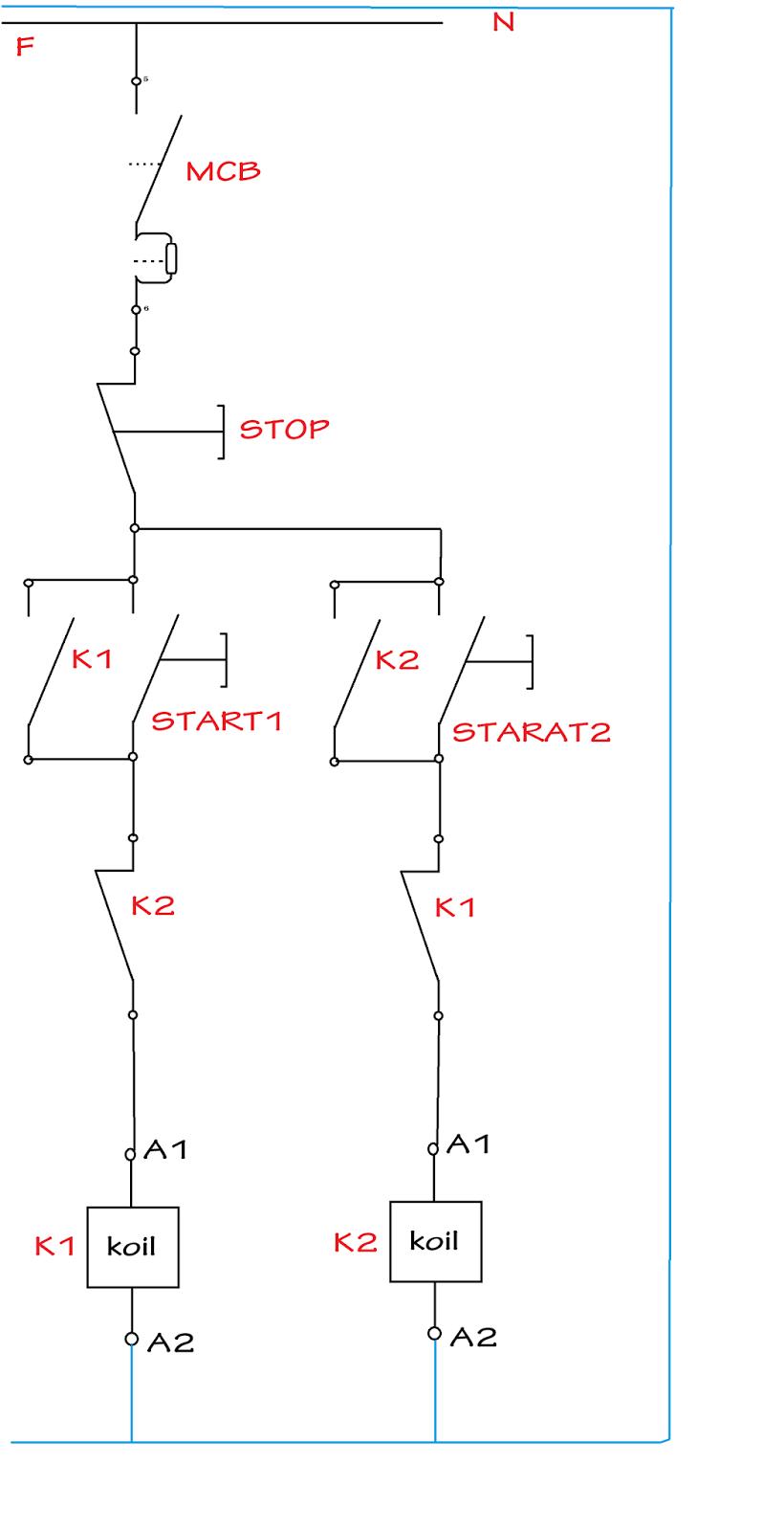 Gambar Rangkaian Forward Reverse