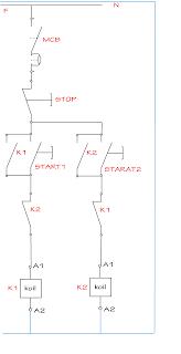 Sistem Kontrol Motor listrik 3 phasa Forward – reverse