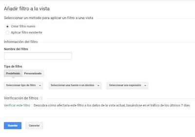 Como activar filtro por IP en Google Analytics