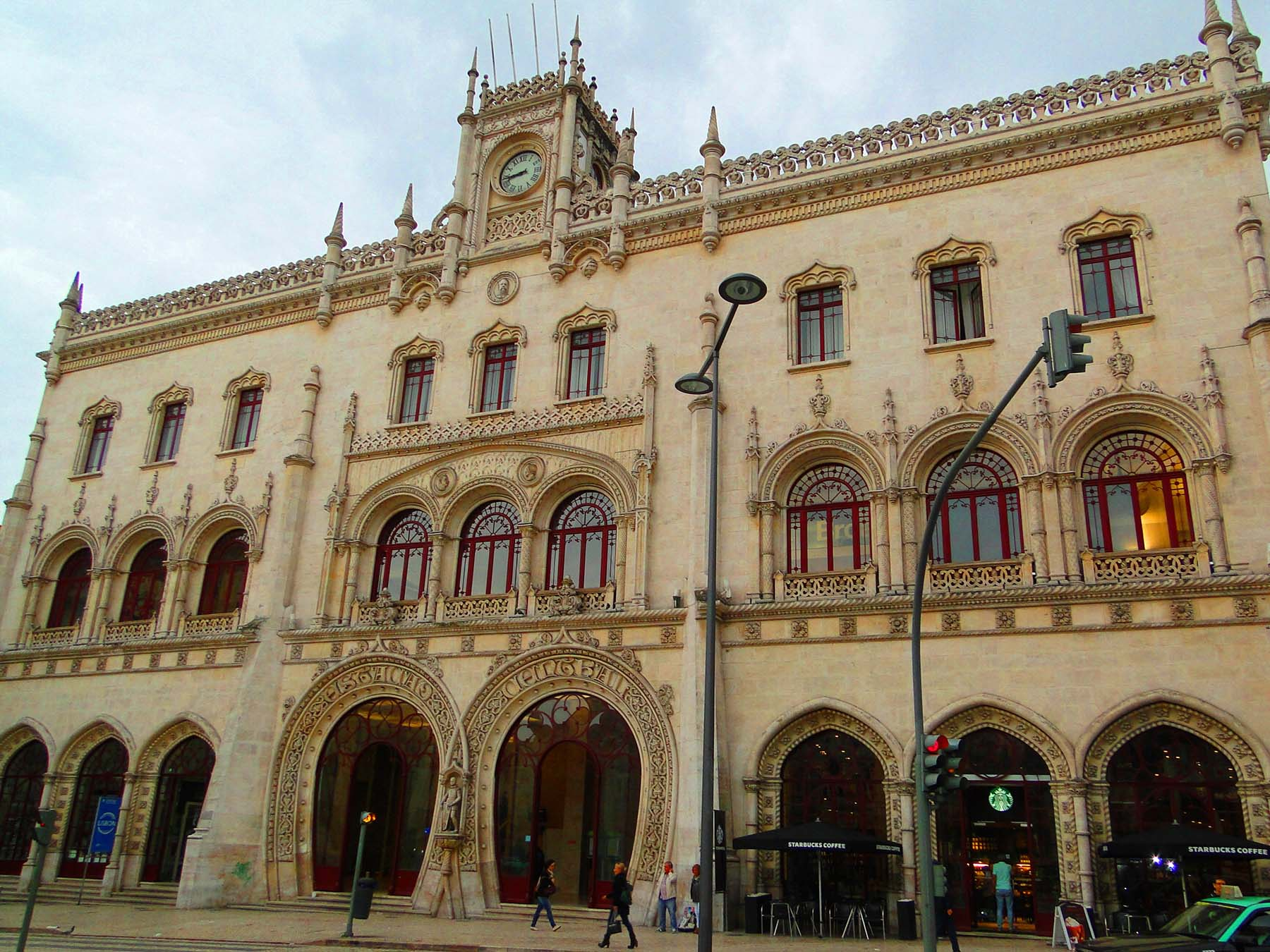 Estação de trem Rossio, Lisboa, Portugal.