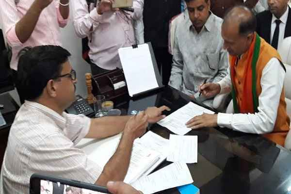 nagender-bhadana-file-nomination-nit-vidhansabha-from-bjp-news