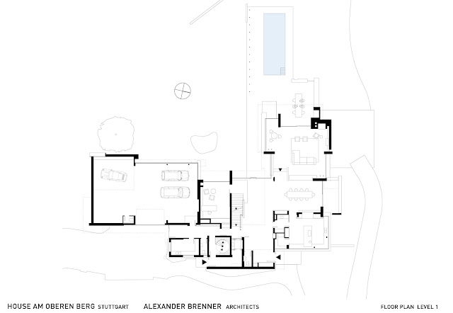 Floor plan of first level of an amazing home in Germany