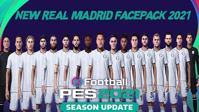 PES 2021 Real Madrid New Facepack