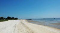 An empty beach in Waveland, Mississippi on Sept. 6, 2019. (Credit: Janet Densmore) Click to Enlarge.