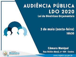 Prefeitura de Registro-SP convida população para elaboração participativa da Lei de Diretrizes Orçamentárias
