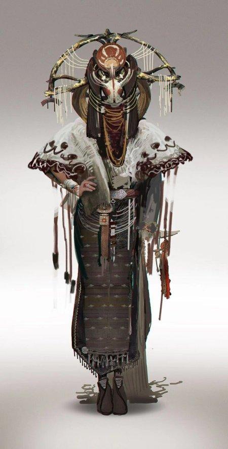 Yuan Fang artstation ilustrações fantasia ficção arte conceitual fashion