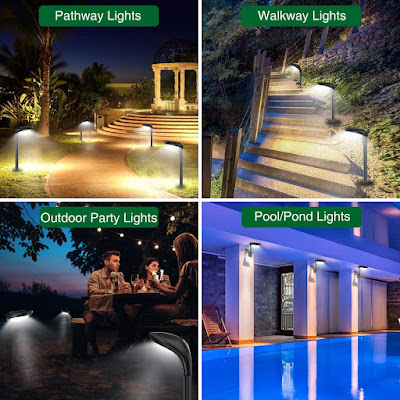Solar Pathway Lights Outdoor 4 Pack