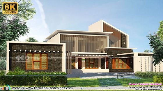 8K rendered modern contemporary elevation