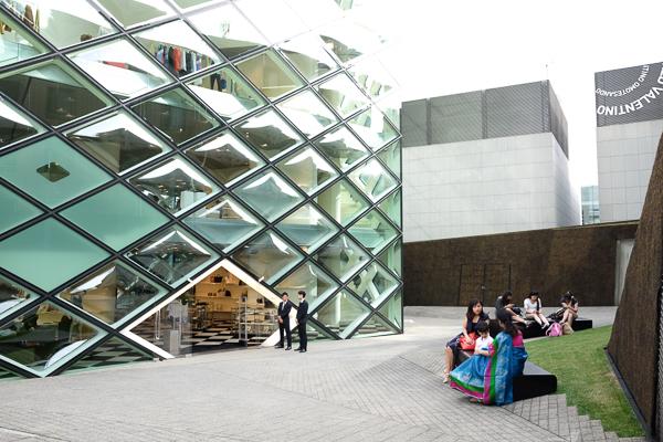 Prada store near Omotesando Avenue, in the Aoyama district of Tokyo.
