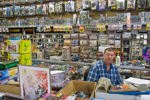 Image: Tall Tales Comic Shop, by Colin Davis on Flickr