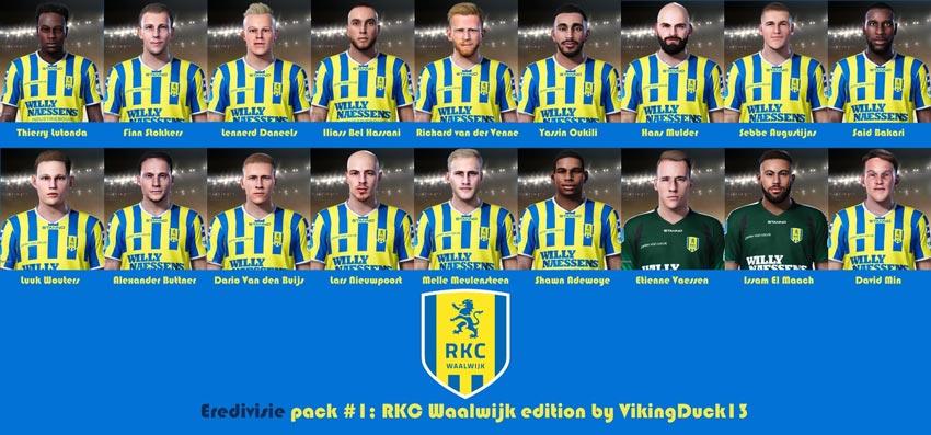 RKC Waalwijk Facepack For eFootball PES 2021
