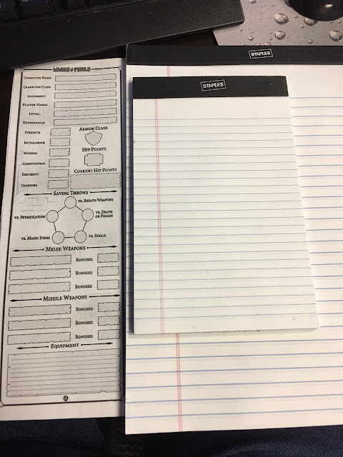 Mazes & Perils Short Sheet? Mini Sheet? Ideas for a compact character sheet