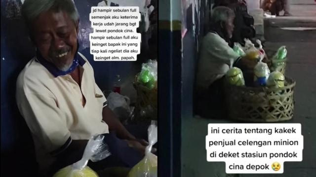 Rela Tak Makan Seharian, Kakek 64 Tahun Jual Celengan Sampai Malam demi Istri