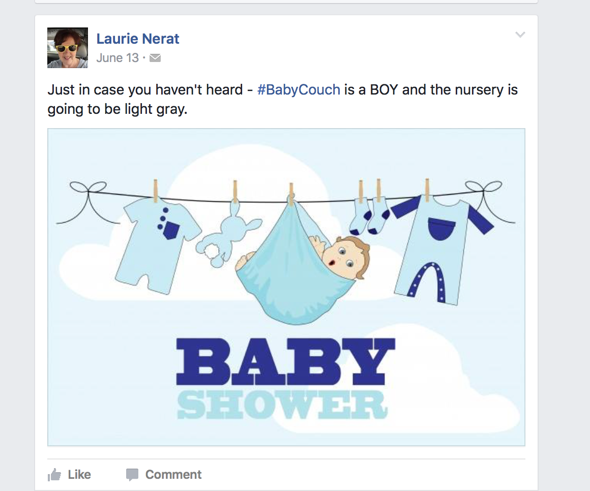 soi decided to try something fun and new a virtual baby shower