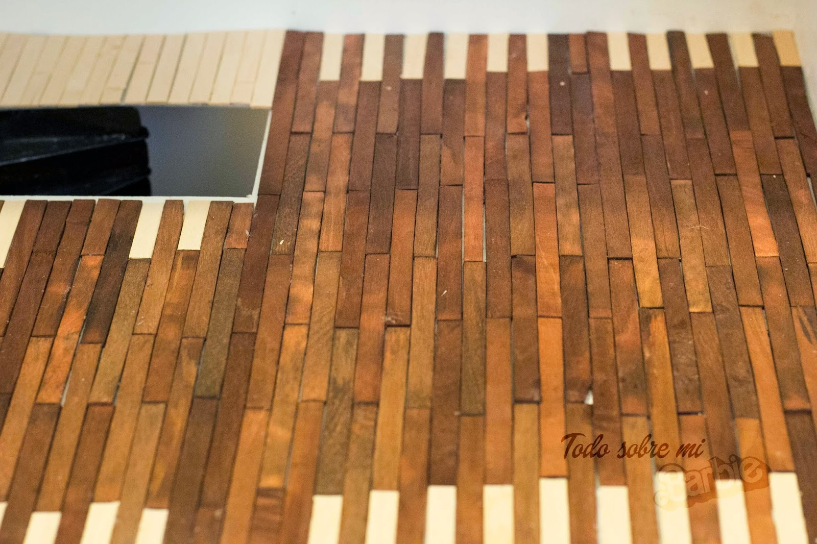 Todo sobre mi barbie c mo hacer un suelo de madera 2 parte - Suelo de madera ...