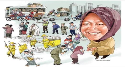 Tri Rismaharini: Walikota Surabaya Ultah, Di Kado Lukisan Karikatur